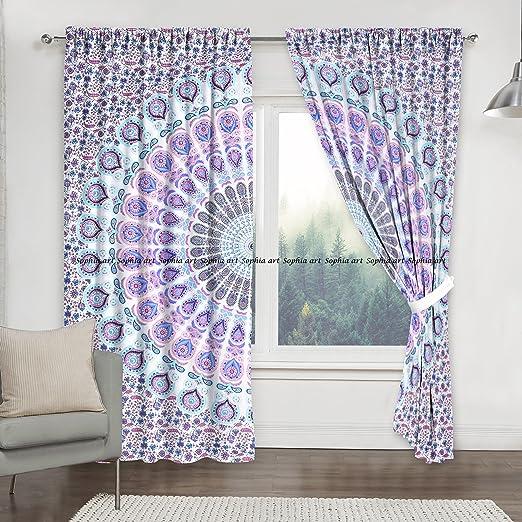 Wall Hanging Star Mandala Door Window Curtain Drape Valance Indian Cotton Art