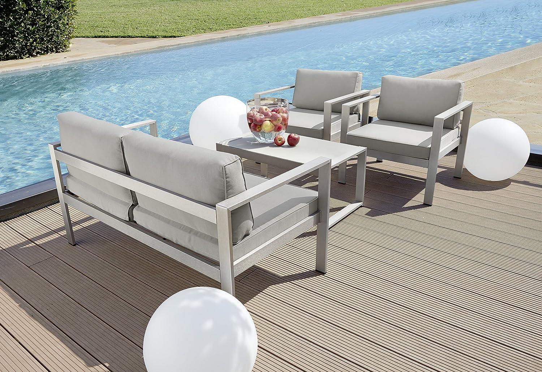 Amazon.de: greemotion 123529 Lounge Set San Diego, 4-teilig, 136 x ...
