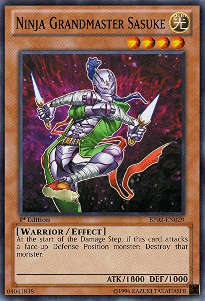 Amazon.com: Yu-Gi-Oh! - Ninja Grandmaster Sasuke (BP02-EN029 ...