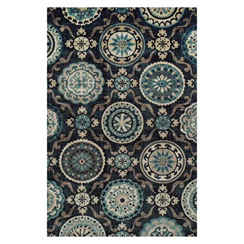 Blue Nile Mills 5 x 8 Abner Collection Area Rug, Black