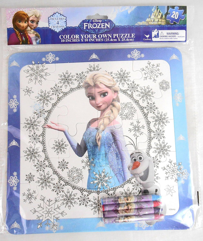 - Amazon.com: Frozen Elsa Color Your Own Puzzle 20 Piece With
