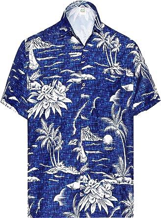 LA LEELA los Hombres Playa Palma Impreso Aloha Campo de Manga ...