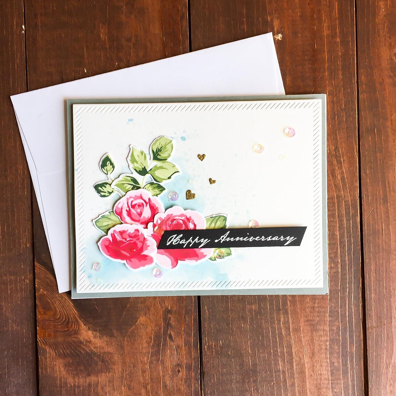 Amazon Handmade Anniversary Card Rose Card Flower Card Happy