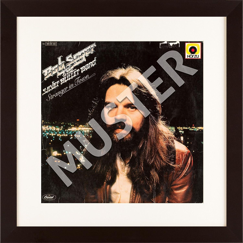 Amazon.de: LP Vinyl Cover Rahmen zum Aufhängen in braun mit ...