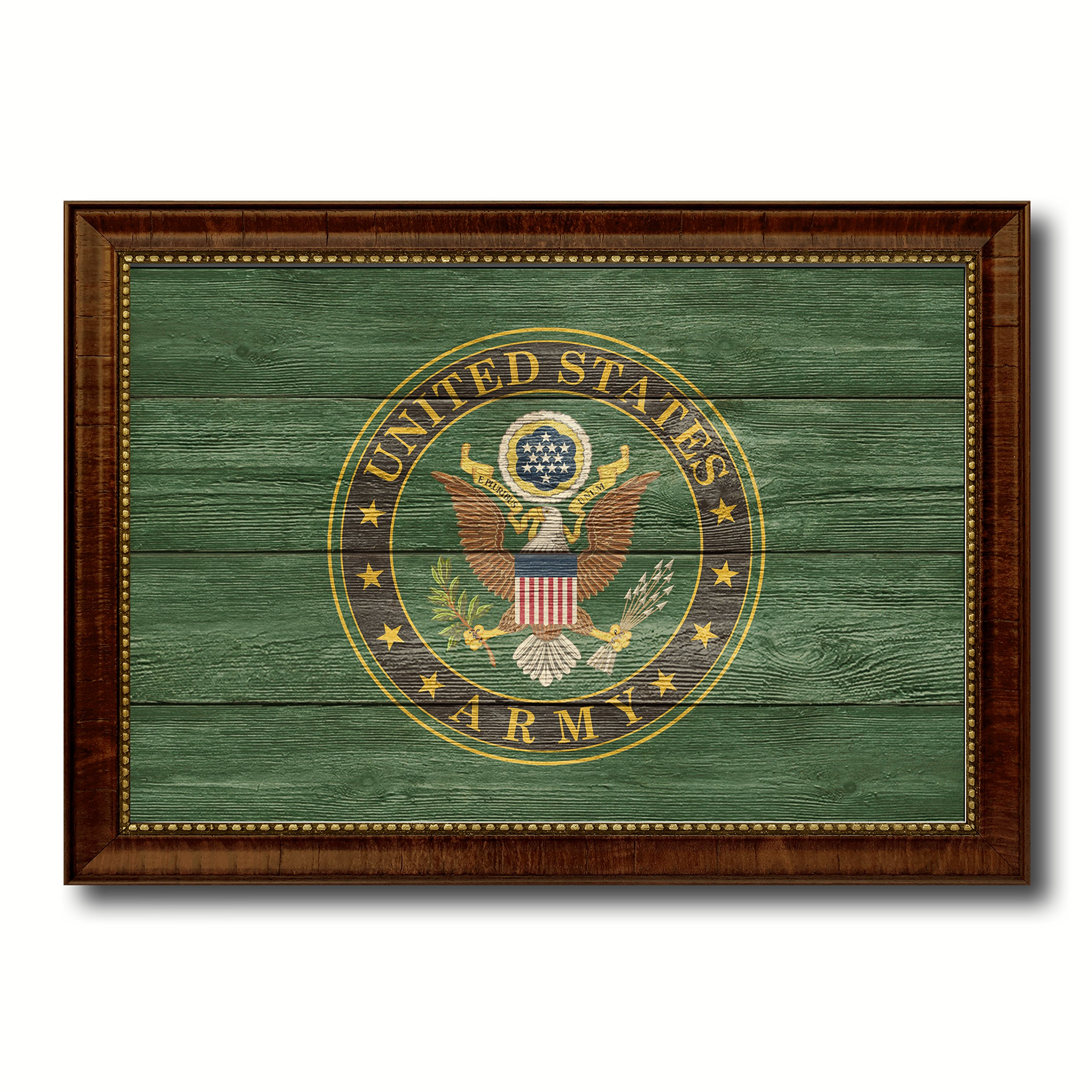 US Army Military Texture Flag Canvas Print Picture Frames Patriotic Office Home Decor Wall Art Decoration Gifts 23''x33'' by AllChalkboard
