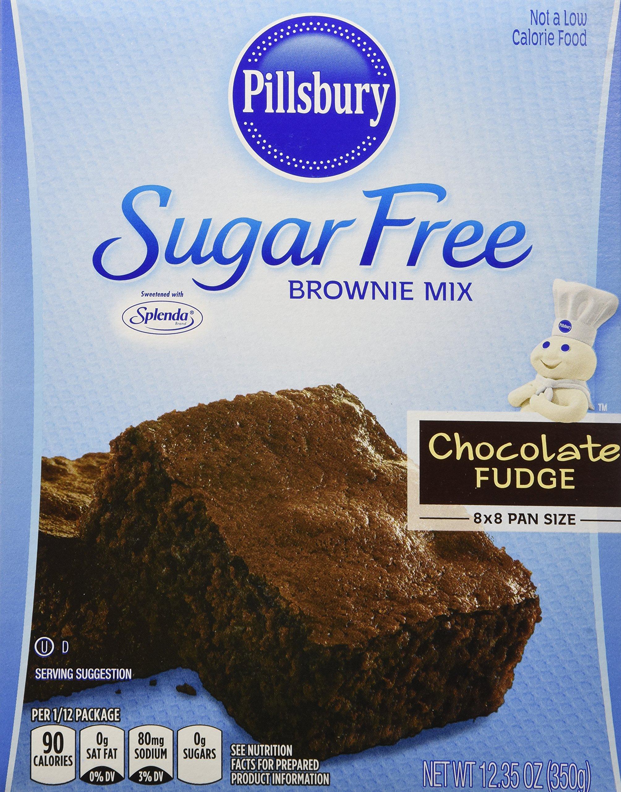 Pillsbury Sugar Free Chocolate Fudge Brownie Mix, 12.35 oz. (Pack of 6)
