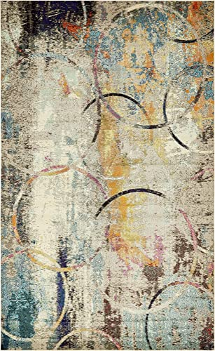 Unique Loom Chromatic Collection Rustic Modern Abstract Colorful Multi Area Rug 10 6 x 16 5