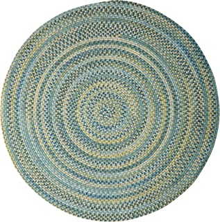 product image for Colonial Mills Rustica Round Braided Rug, 10', Whipple Blue