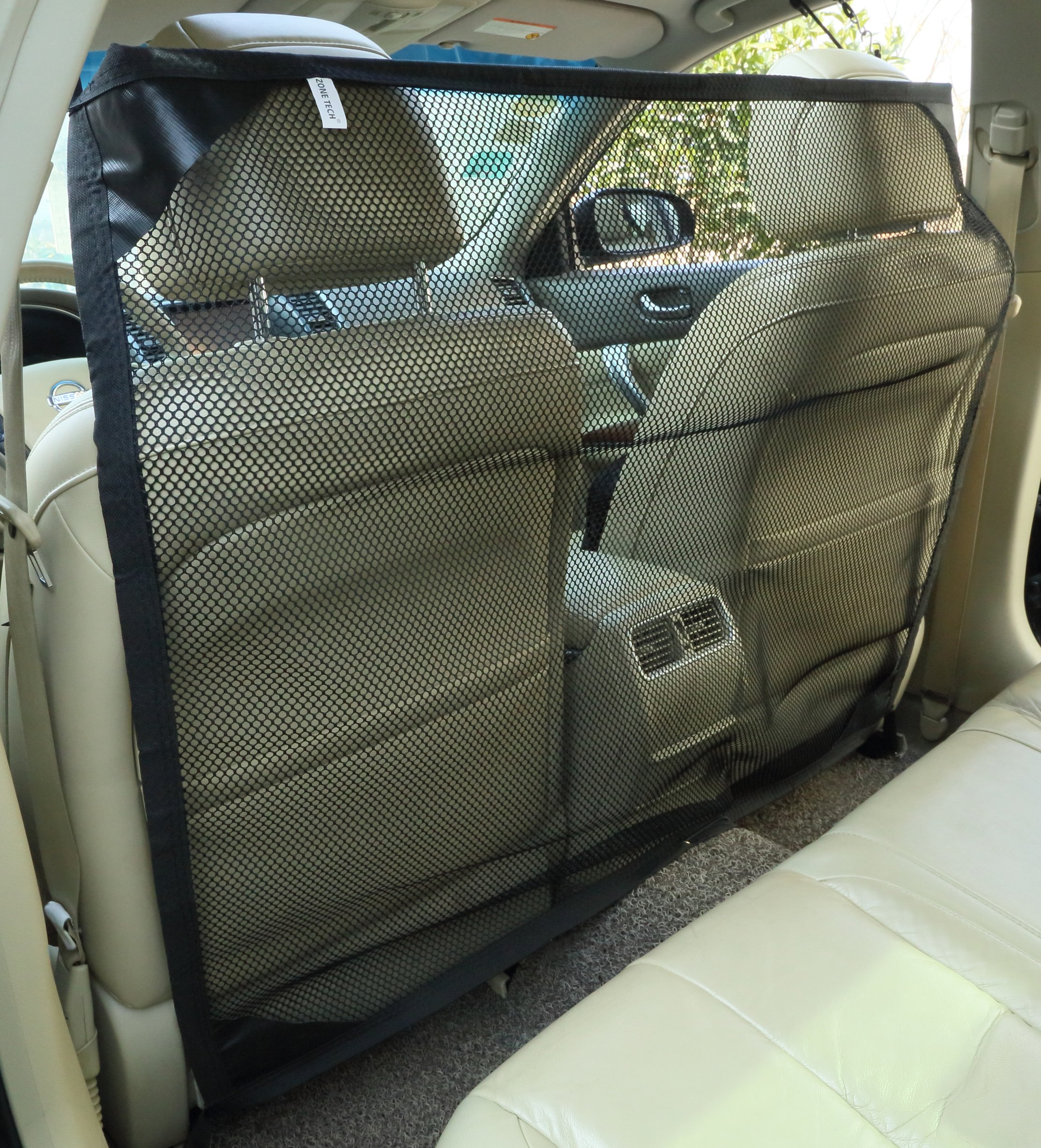 Zone Tech Vehicle Travel Pet Net Barrier 46 X 37 Inches