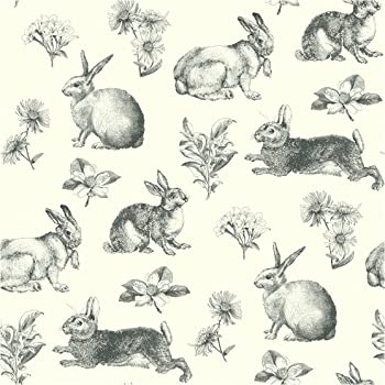 York Wallcoverings At4263 Ashford Toiles Bunny Toile