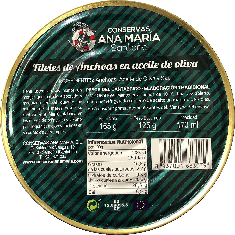 Filetes de Anchoas en Aceite de Oliva - Ana María - Santoña ...