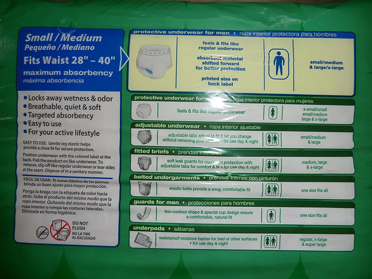 Amazon.com: CVS Mens Underwear Maximum Absorbency Small/Medium (28-40 Inches) - Compare to Depends - (20 count): Health & Personal Care