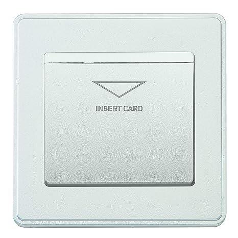 MK Dimensiones 1 Gang 10A - Interruptor de llavero (placa ...