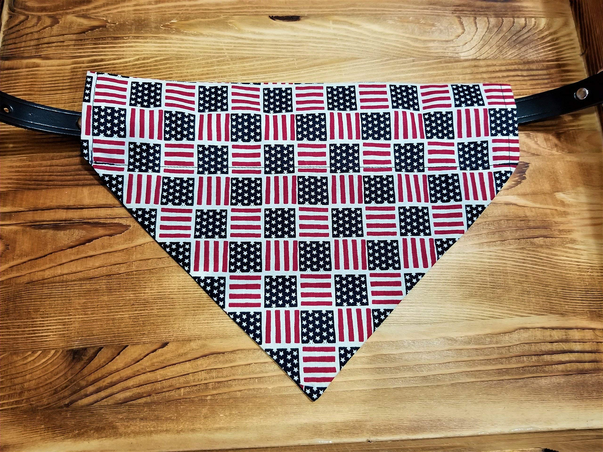 American Flag Pet No-Tie Bandana