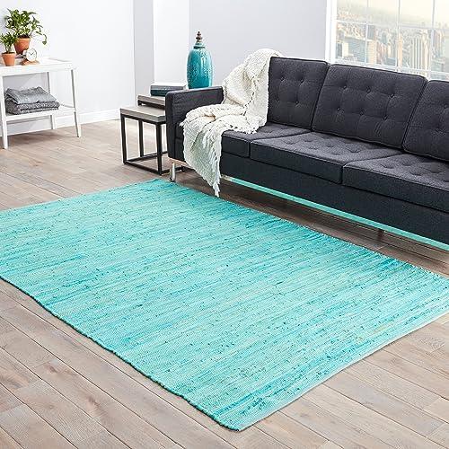 Jaipur Living Raggedy Handloom Solid Blue Area Rug 2 X 3