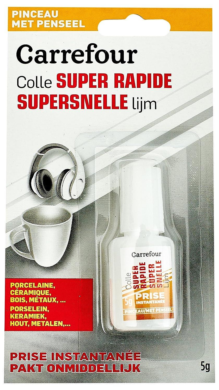 Carrefour T010306 5000ml adhesivo y pegamento - Goma (5000 ml, Tubo, Color blanco, Cerámica, De plástico, 5 g, 87 mm): Amazon.es: Oficina y papelería