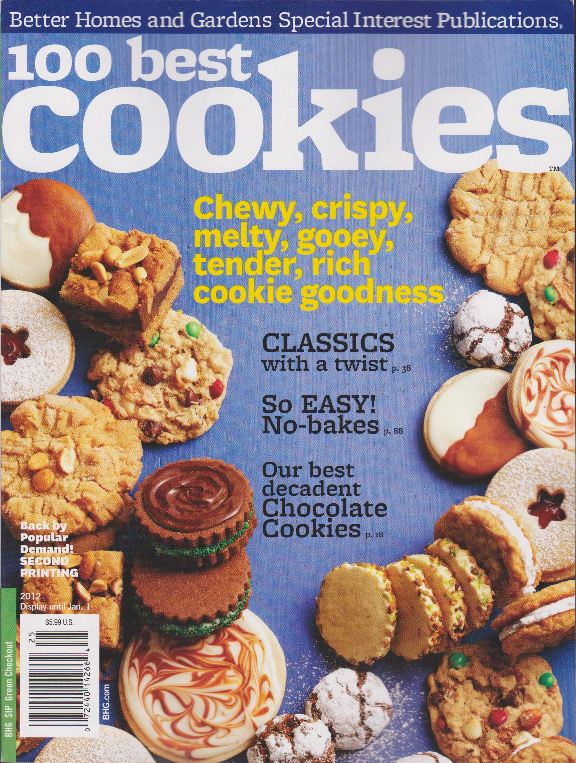 Better Homes And Gardens 100 Best Cookies Magazine 2012: Amazon.com: Books
