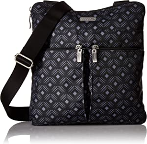 Baggallini Women's Horizon Crossbody, Black Diamond Print, One Size
