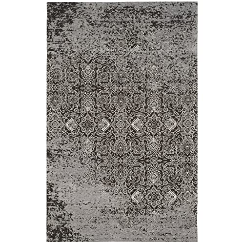 Safavieh Classic Vintage Collection CLV224B Silver and Brown Area Rug 4 x 6