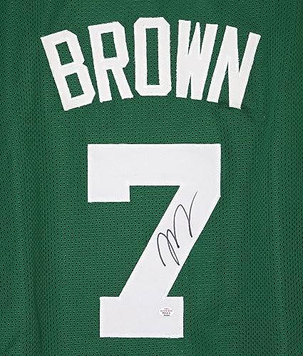 newest 8ee87 4f7e0 Jaylen Brown Boston Celtics Signed Autographed Green #7 ...