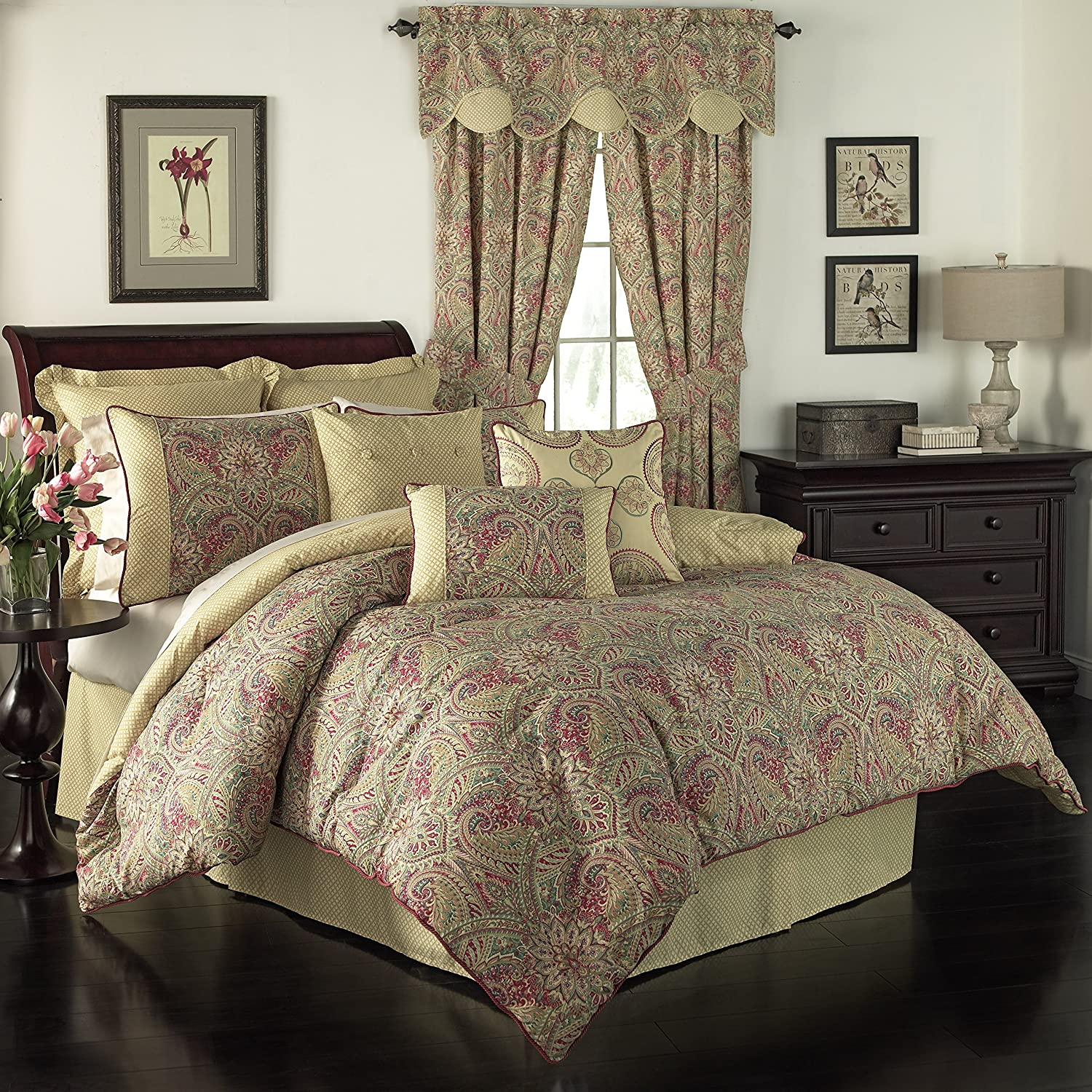 WAVERLY Swept Away Bedding Collection, King, Berry