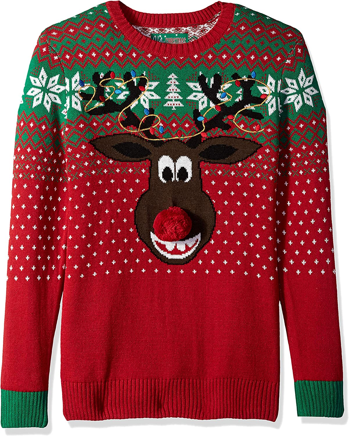 Ugly Christmas Sweater Company Men's Assorted Animals and Reindeer Crew Neck Xmas Sweaters
