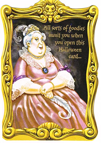 amazon com harry potter gryffindor fat lady portrait halloween card