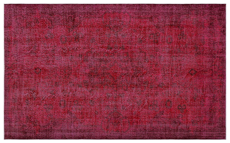 Bespoky ビンテージ 手織 ラグ 赤 大きいサイズ 194 X 304 Cm   B07HNF4GTM