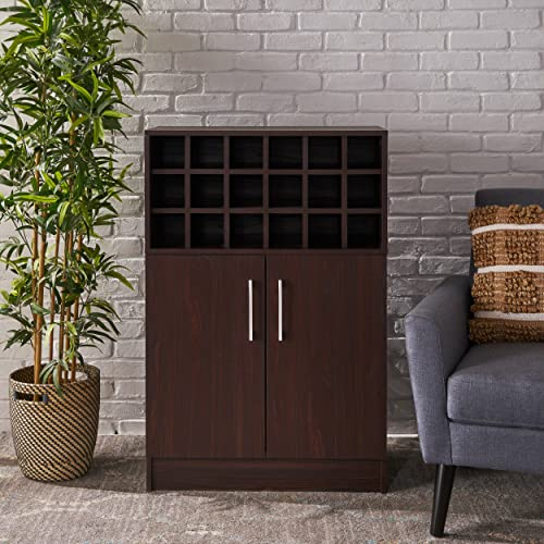 Christopher Knight Home 303309 Rouche Cabinet, Walnut