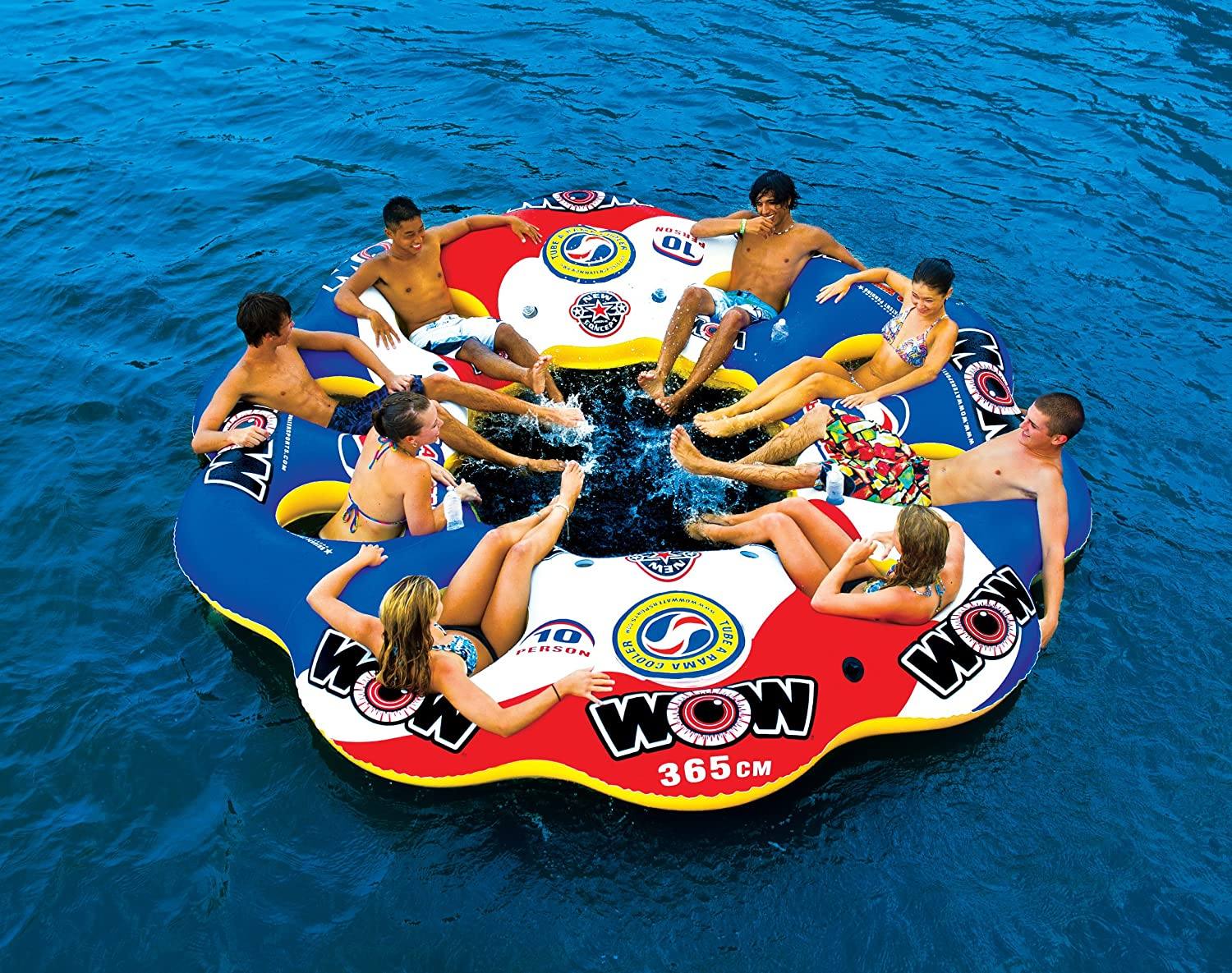 Amazon.com: WOW World Of Watersports, 13 2060 Tube A Rama, 10 Person  Inflatable Floating Island, 12 Foot Diameter: Sports U0026 Outdoors