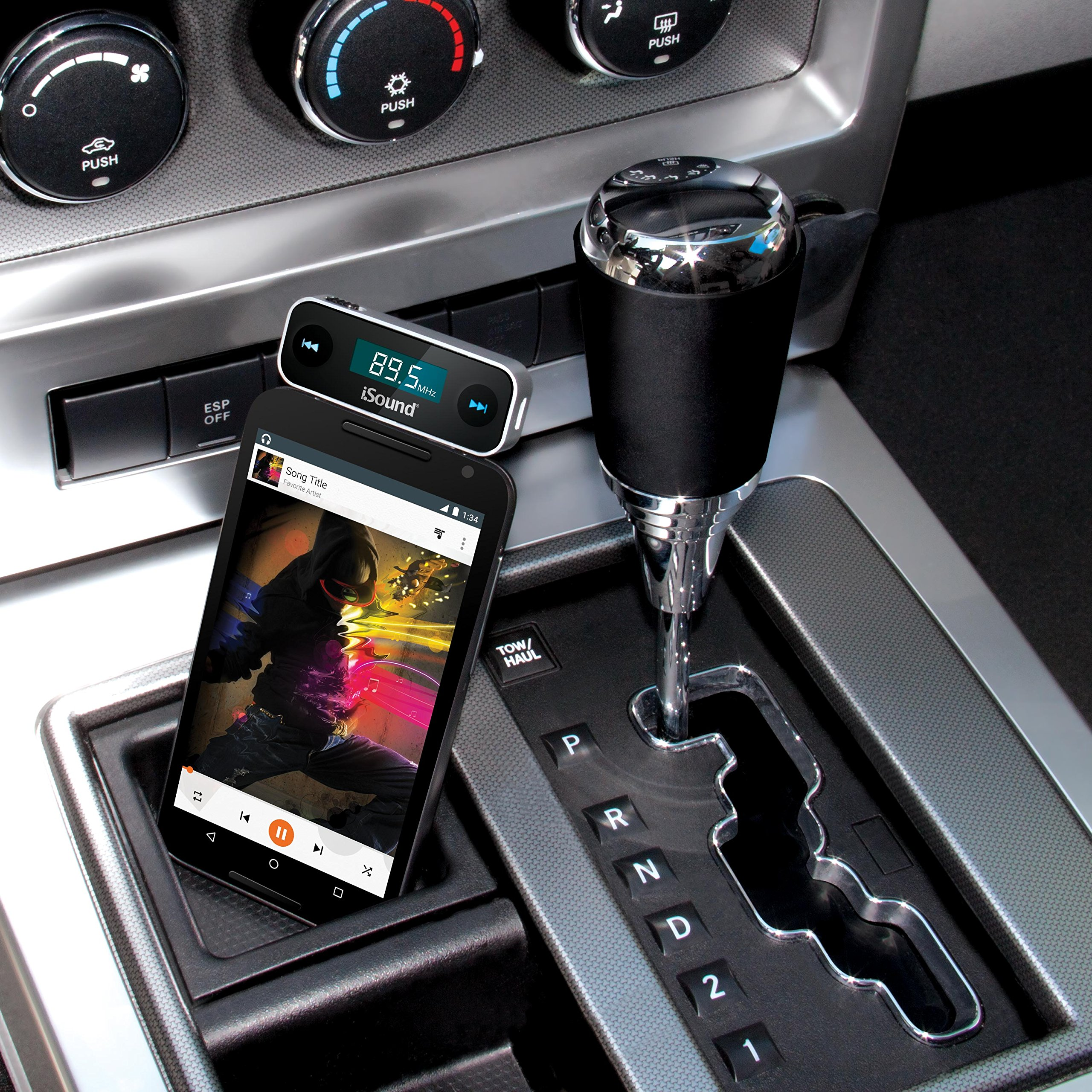 iSound Smart Tune 2 in 1 - Wireless FM Transmitter with Rechargeable Battery & included Car Charger