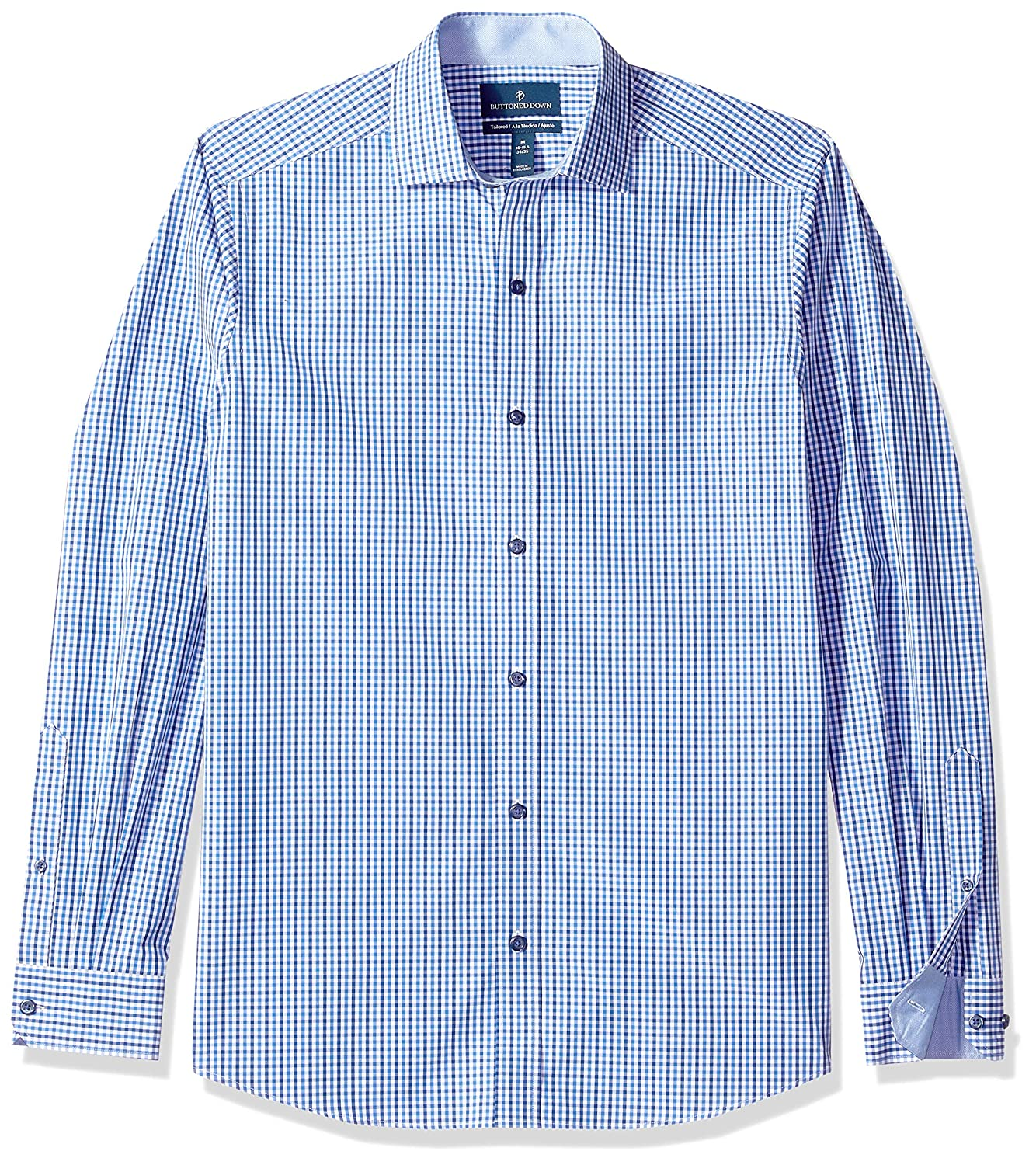 BUTTONED DOWN Mens Tailored Fit Supima Cotton Dress Casual Shirt Brand