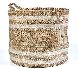 """LR Home Montego Storage Basket, 17"""", Natural Jute"""