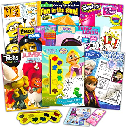 Amazon.com: Coloring Books Bulk Assortment For Girls Kids Ages 4-8, Bundle  Includes 8 Activity Books With Games, Puzzles, Mazes And Stickers: Toys &  Games