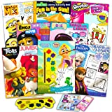 Coloring Books Bulk Assortment for Girls Kids Ages 4-8, Bundle Includes 8 Activity Books with Games, Puzzles, Mazes and Stick