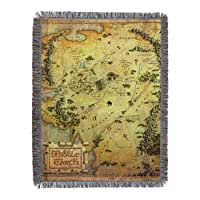 "The Hobbit,""Middle Earth"" Woven Tapestry Throw Blanket, 48"" x 60"""