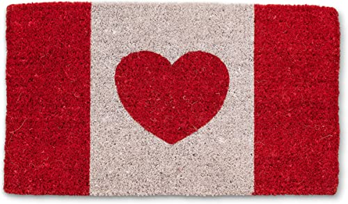 Abbott Collection 35-FWD GE 7596 Canada Flag with Heart Mat