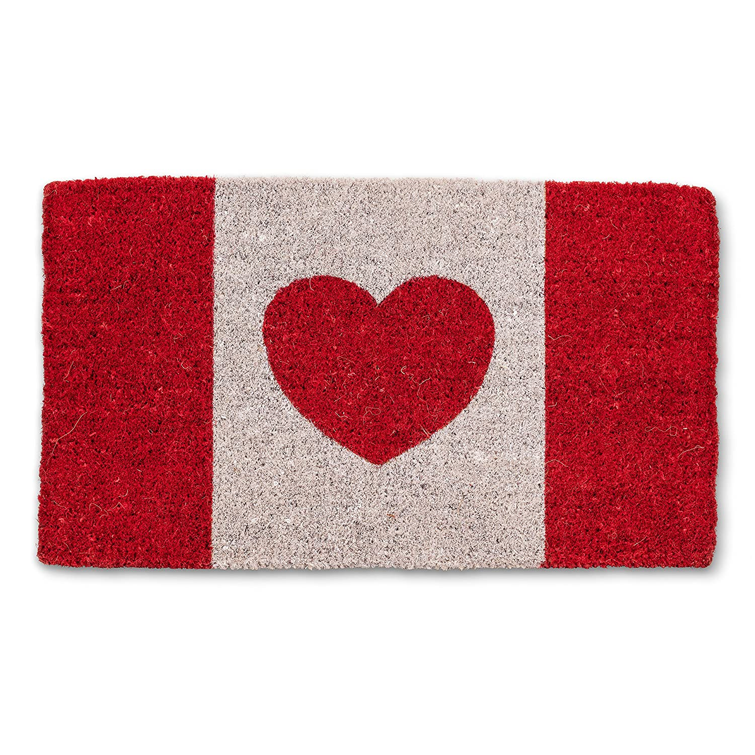 Abbott Collection 35-FWD//GE 7596 Canada Flag with Heart Mat FIBIND