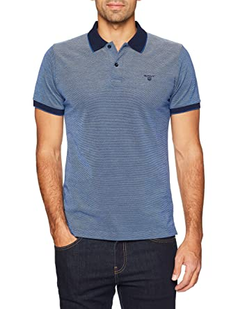 Gant Four-Color Oxford Stripe Rugger, Polo Homme, Bleu (Persian Blue), X-Large