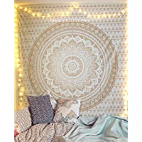 raajsee Exclusive Handmade Original Gold Ombre Tapestry by
