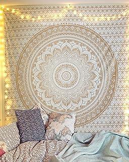 everso Indian Mandala Wall Hanging Tapestry Twin Size Boho Bedding Bedspread Picnic Beach Sheet 85x55 Green