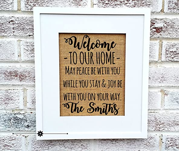Amazoncom Welcome To Our Home Sign Housewarming Gift Ideas
