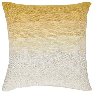 Rivet Casual Throw Pillow, 17  x 17 , Gold