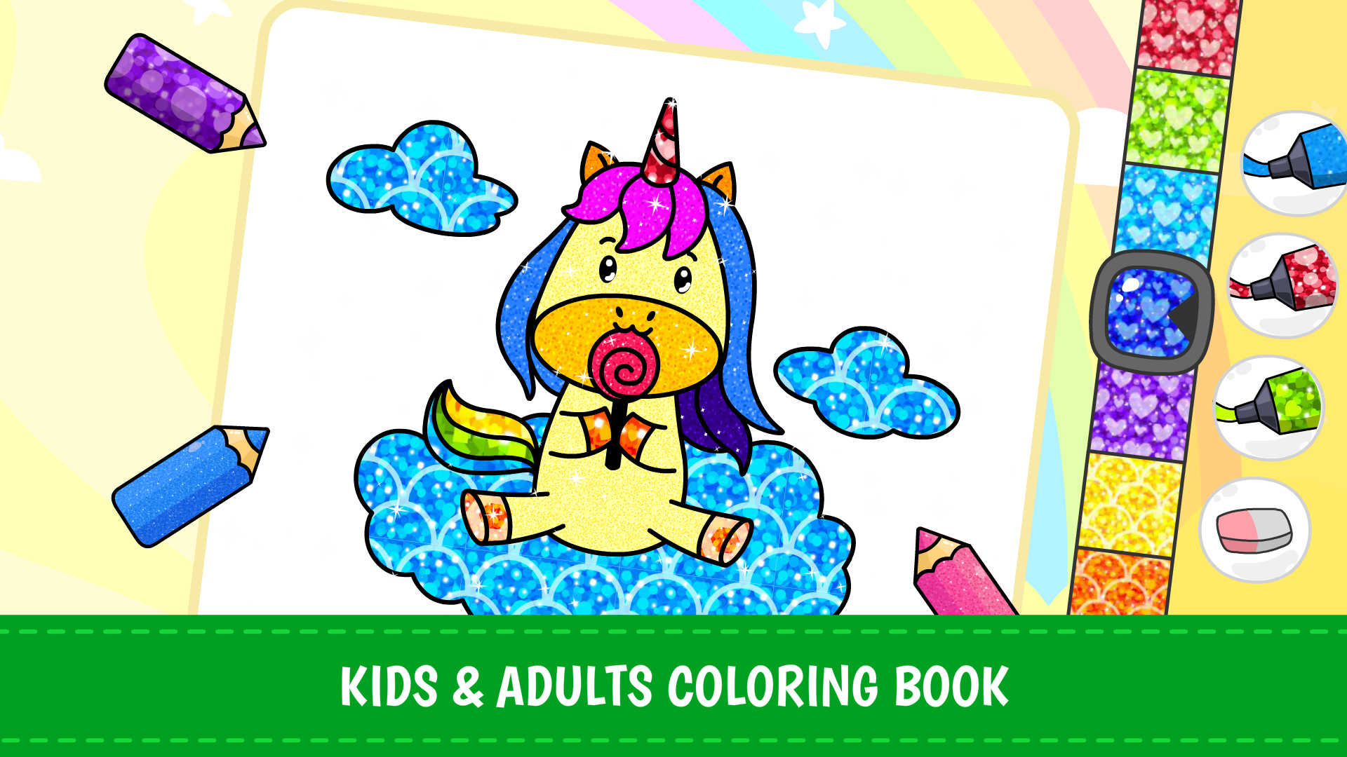 Amazon.com: Unicorn Coloring Games for Kids: Free Rainbow ...
