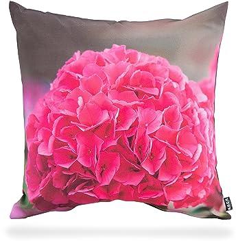 Amazon.de: H.O.C.K. Kissen Outdoor ca. 50x50 cm Hortensien pink ...