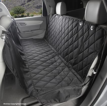 Medium image of dog seat cover with hammock for full size trucks and large suvs   black extra large