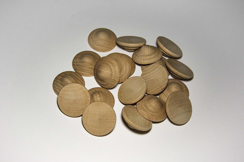Pack de 20 tapones de madera Haya (Ø 35 mm): Amazon.es: Bricolaje y herramientas