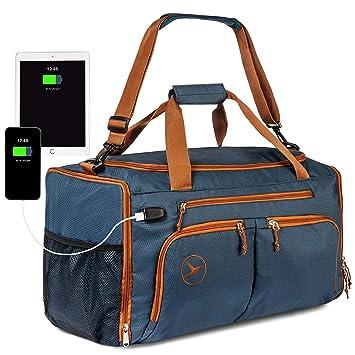 Amazon.com: Bolsa de gimnasio para deportes, con bolsillo ...