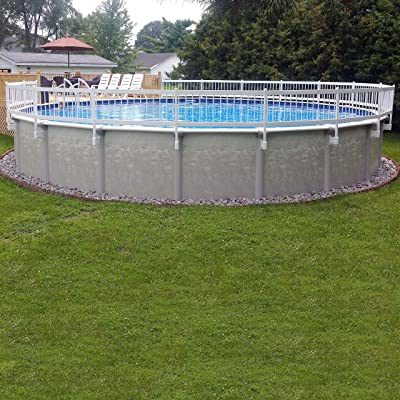 Vinyl Works 24-Inch White Economy Resin Above-Ground Pool Fence Base