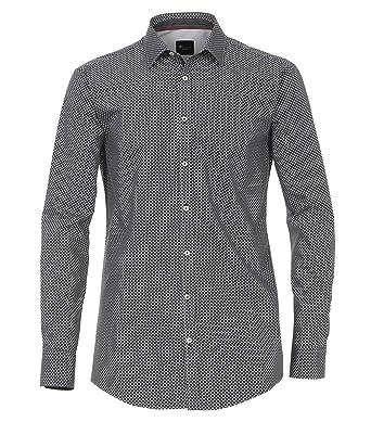 683bab9078d8a6 Venti Herren Hemd mit modischem Druck Slim Fit 100% Baumwolle  Amazon.de   Bekleidung